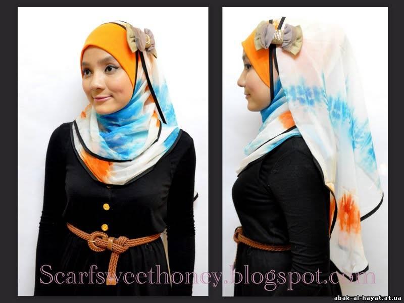 мусульманка как завязать платок фото